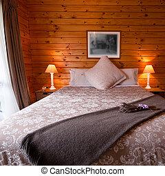 logia, interior, detalle, dormitorio