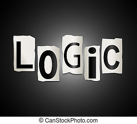 Logic concept. - Illustration depicting a set of cut out...