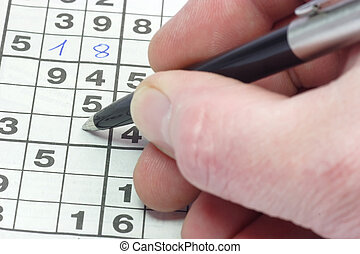 Playing sudoku puzzle in detail.