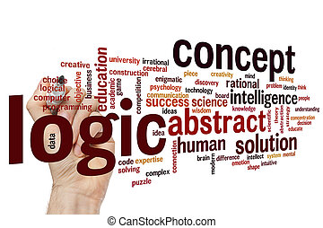 Logic concept word cloud background