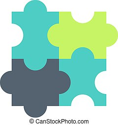 Logical thinking flat vector icon