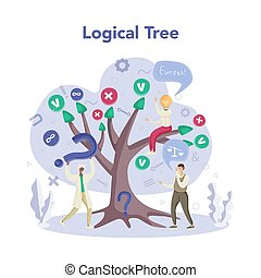 Logical tree. Scientist systematicly study of the forms of ...