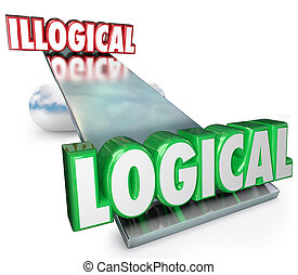 Logical Vs Illogical Words See Saw Balance Scale