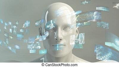 logiciel, art, résumé, fond, données, technologie, information