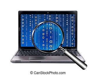 logiciel, bogue, recherche