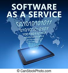 logiciel, comme, a, service