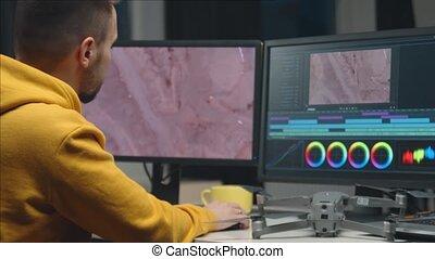 logiciel, indépendant, colorist, utilisation, videographer, ...