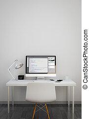 logiciel, propre, codage, espace de travail
