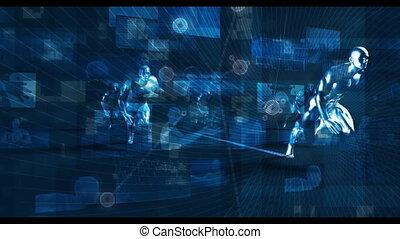 logiciel, réseau, solution, global, concept, chaîne, ...