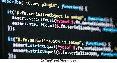 logiciel, révélateur, code, programmation