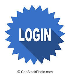 login blue flat icon