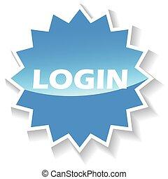 Login blue icon