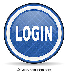 login blue icon