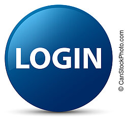 Login blue round button