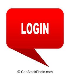 login bubble red icon