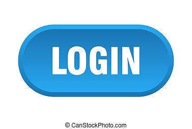 login button. login rounded blue sign. login