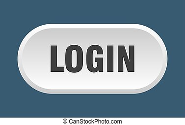 login button. login rounded white sign. login