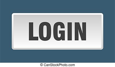 login button. login square white push button