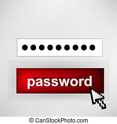 Login button - with abstract cursor
