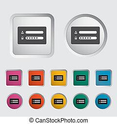 Login. - Login icon. Vector illustration EPS.