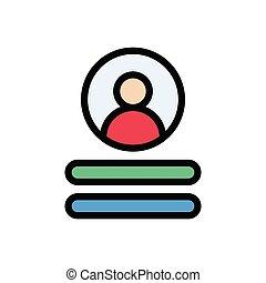 login  flat color icon