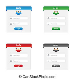 Login forms - Collection of login forms in various colors