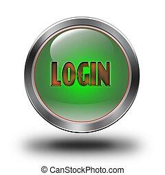 Login glossy icon