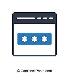 login  glyph color icon