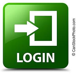 Login green square button
