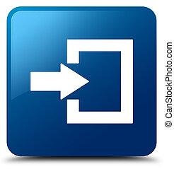 Login icon blue square button
