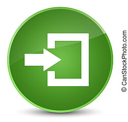 Login icon elegant soft green round button