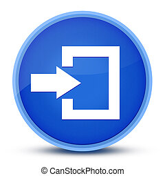 Login icon isolated on special blue round button abstract