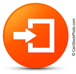 Login icon orange round button