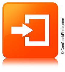 Login icon orange square button