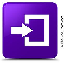 Login icon purple square button