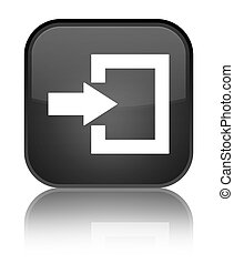 Login icon special black square button