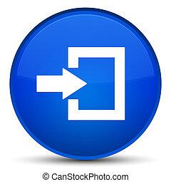 Login icon special blue round button