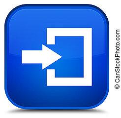 Login icon special blue square button