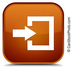 Login icon special brown square button