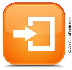 Login icon special orange square button