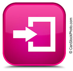 Login icon special pink square button