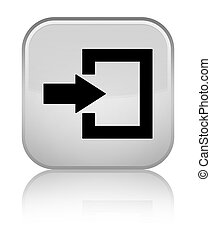 Login icon special white square button