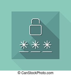 Login icon - Thin series