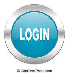 login internet blue icon