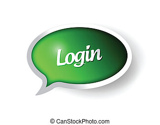 login message communication bubble