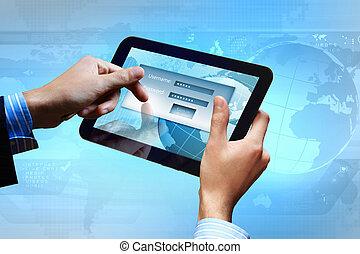 login, mot passe, email