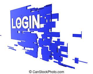 login on wall