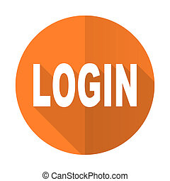 login orange flat icon