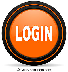 login orange icon