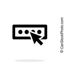 Login password icon on white background.